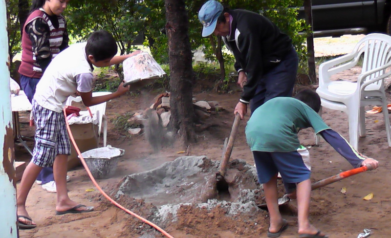 Making cement in the mud